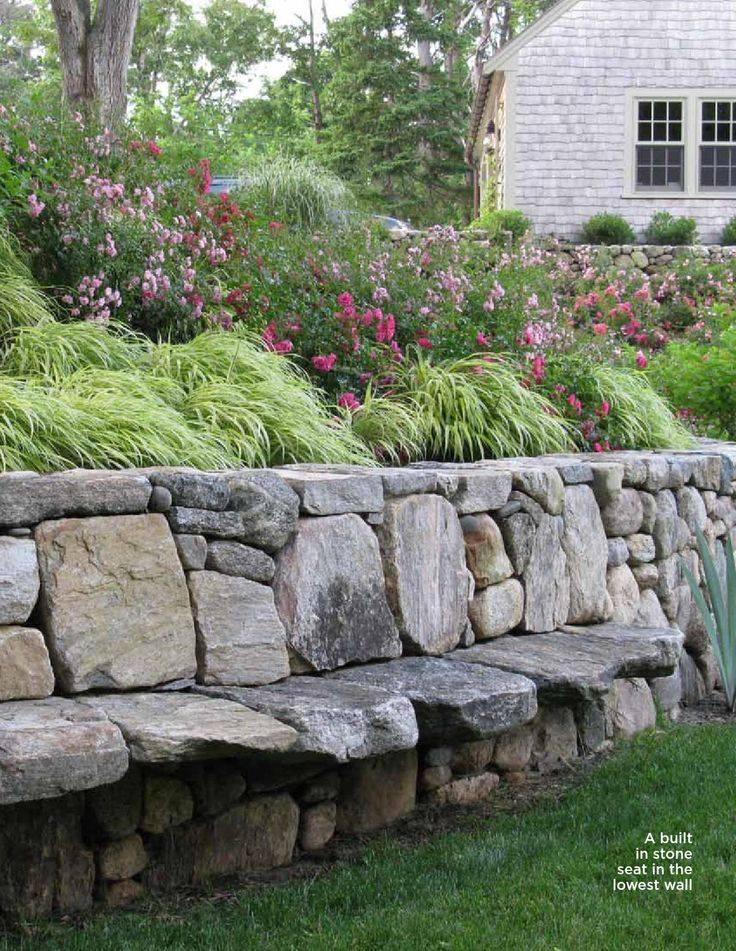 Increibles ideas de bancas hechas con piedra para tu for Jardines interiores con piedras