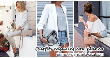 Outfits casuales color blanco
