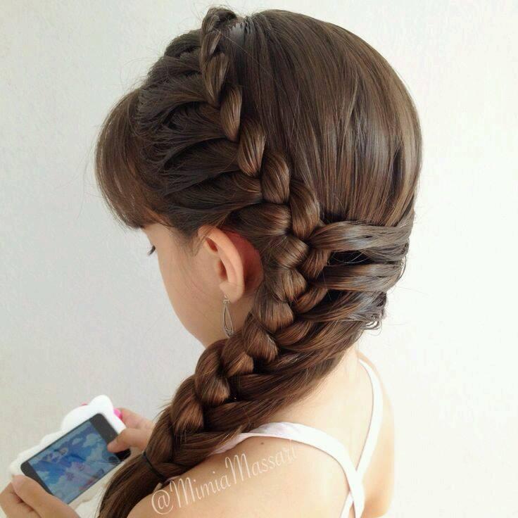Diferentes versiones peinados de flamenca para niñas Fotos de ideas de color de pelo - Peinados con trenza para niñas (15)   Como Organizar la Casa