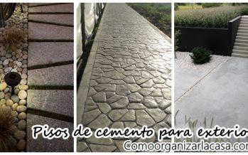 Pisos de cemento para exterior