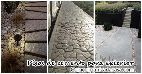 Pisos de cemento para exterior como organizar la casa - Como se echa un piso de cemento ...