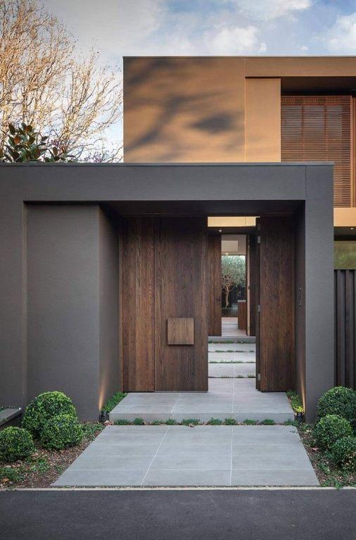 Portales para casas 13 decoracion de interiores for Minimalist house entrance