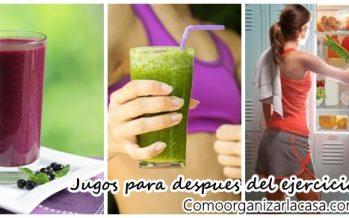 Recetas de jugos para después de hacer ejercicio
