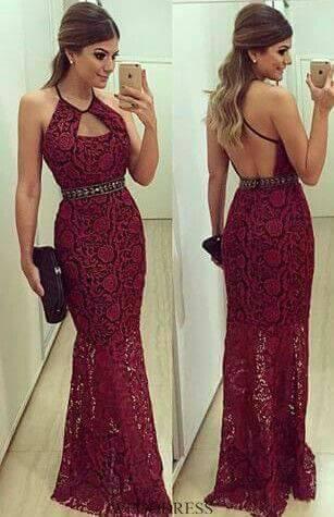 09c781fd7 vestidos de noche color vino tinto