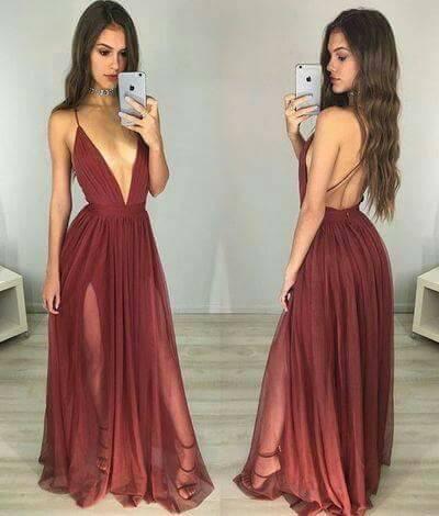 4ac809b01 Vestidos de gala y fiesta en color vino tinto (2) | Como Organizar ...
