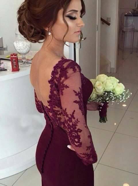 Vestidos de fiesta en color vino