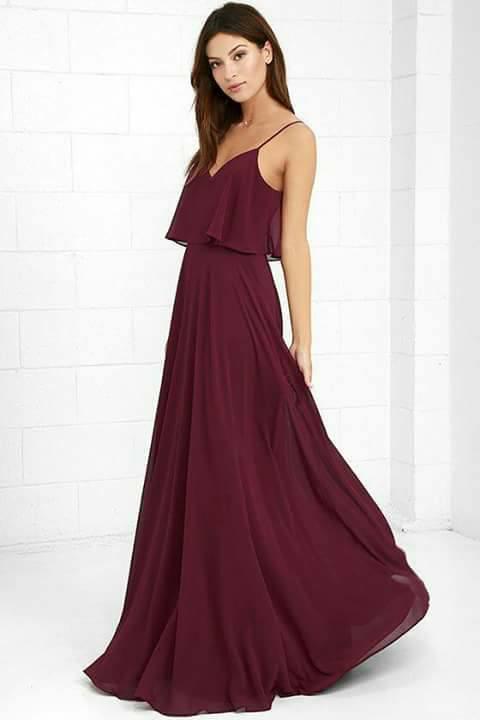 a94261b0b Vestidos de gala y fiesta en color vino tinto (3) | Como Organizar ...