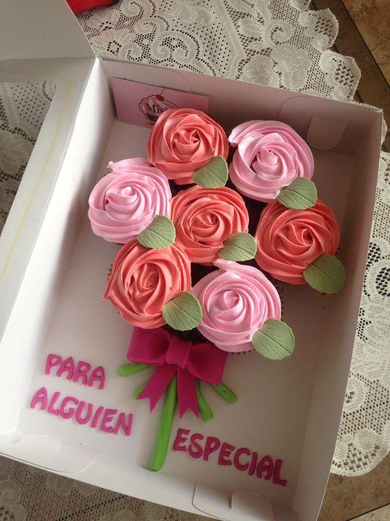 Ideas de cupcakes para el día de las madres