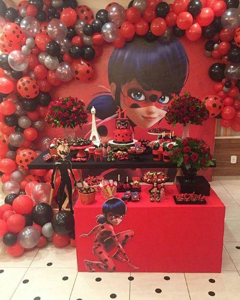 Ideas para decorar fiesta infantil de Miraculous o ladybug