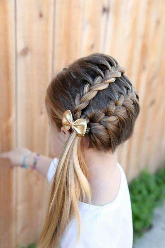 Peinados con trenza para niñas