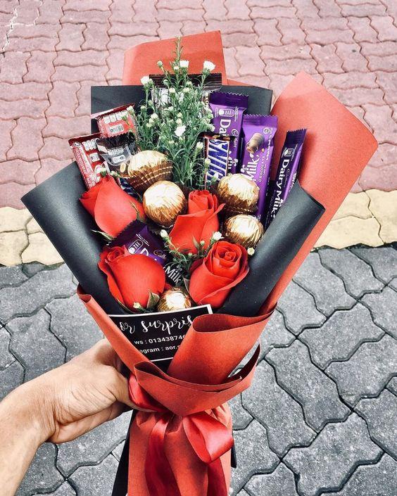 Regalos con chocolates para San Valentin