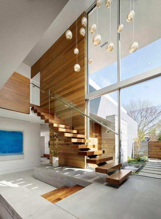 Diseños de escaleras para interiores modernos