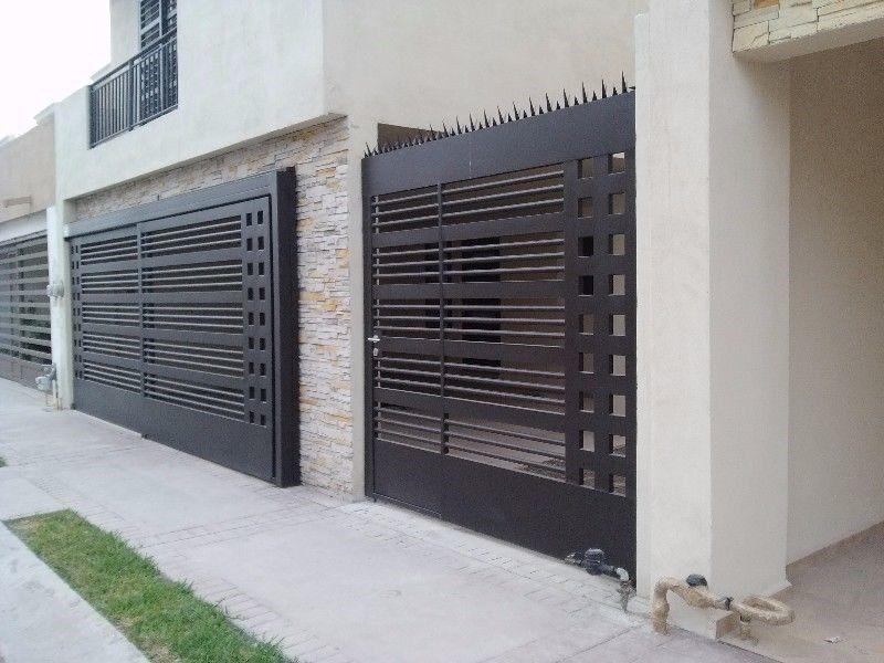 40 ideas de portones de herrer a para tu hogar 16 - Mejor pintura para hierro exterior ...