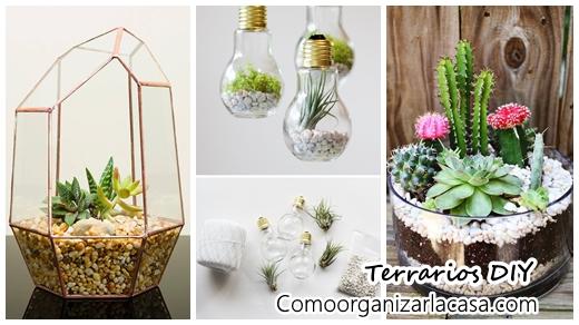 42 ideas de terrarios diy terrariums decoracion de for Decoracion para terrarios