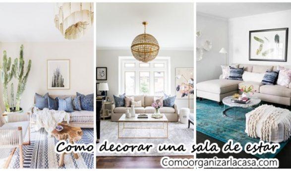 Ideas para decorar y organizar tu hogar for Organizar una sala de estar