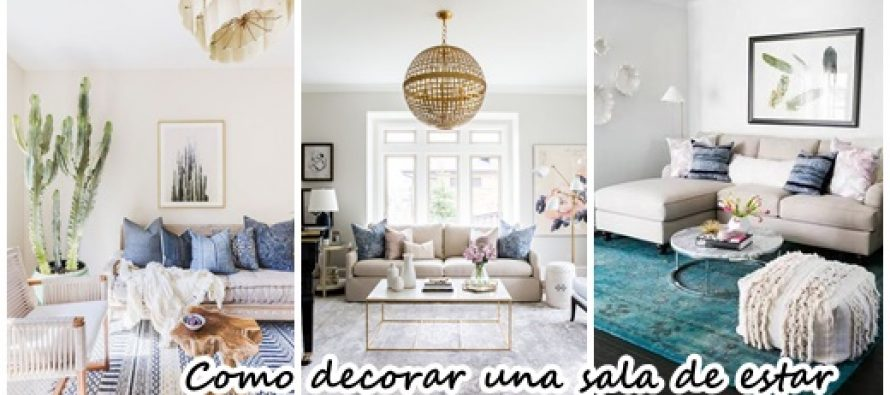 Como decorar una sala de estar