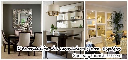 Decoración de comedores con espejos | Decoracion de interiores ...
