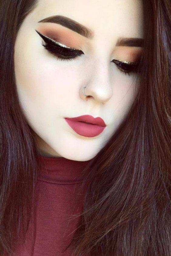 Delineadores con glitter lo nuevo en maquillaje 2017 (25)