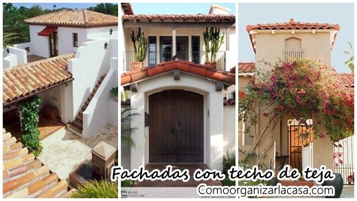 Fachadas de casas con techo de teja decoracion de for Fachadas de casas con teja