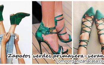 Hermosos zapatos color verde ideales para primavera-verano 2017