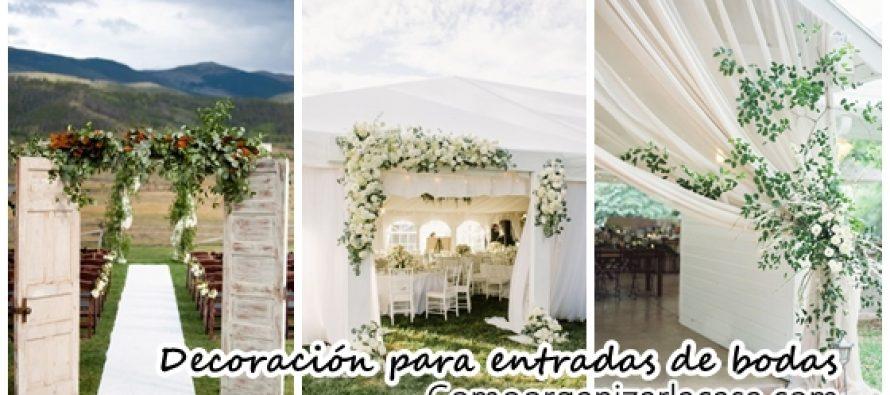 30 ideas para decorar entradas de bodas