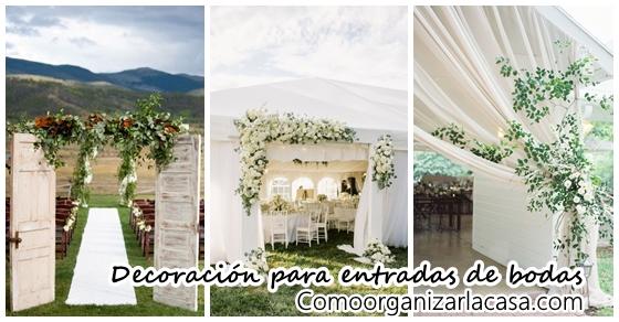 30 ideas para decorar entradas de bodas decoracion de - Ideas para entradas de casa ...