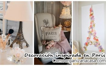 Ideas para decorar una habitación inspirada en Paris