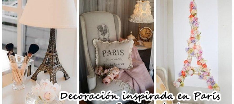Ideas para decorar una habitación inspirada en Paris
