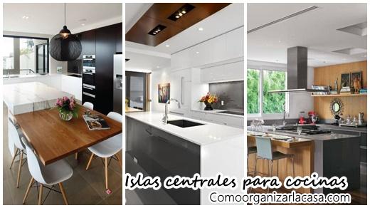Ideas para islas centrales en tu cocina decoracion de for Cocinas con islas centrales