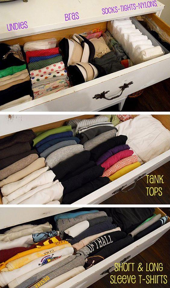 Ideas para organizar de manera mas óptima tu ropa