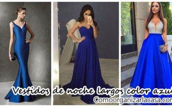 Impresionantes vestidos de fiesta largos en color azul