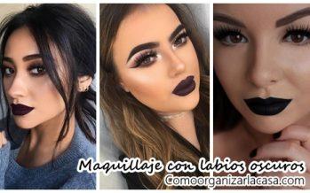 Maquillaje con labios oscuros ¿Te animas a usarlos?
