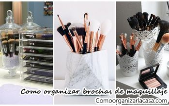 Mira como organizar brochas de maquillaje
