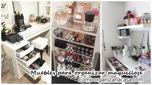 Muebles organizadores de maquillaje decoracion de for Cosas del hogar online