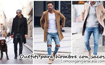 Outfits para hombre con sacos o abrigos