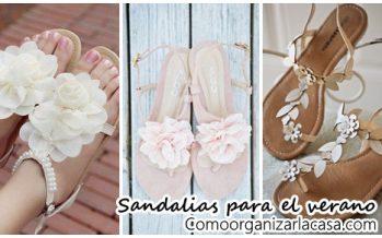 Sandalias con flores ideales para el próximo verano