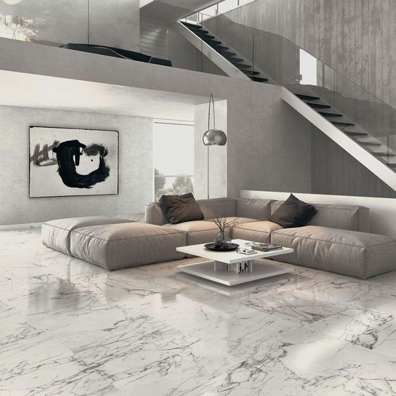 Pisos de marmol para interiores modernos