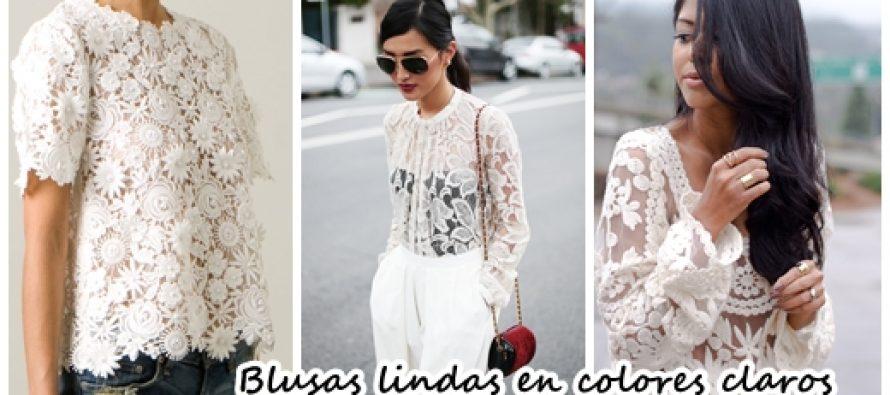 Blusas lindas en colores claros