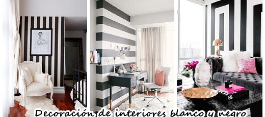 Decoración en blanco y negro con toques glamourosos