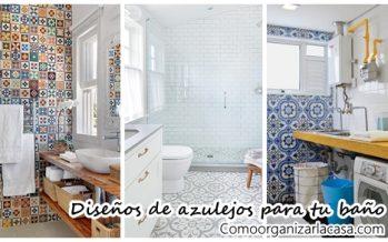 Diseños de azulejos para tu baño