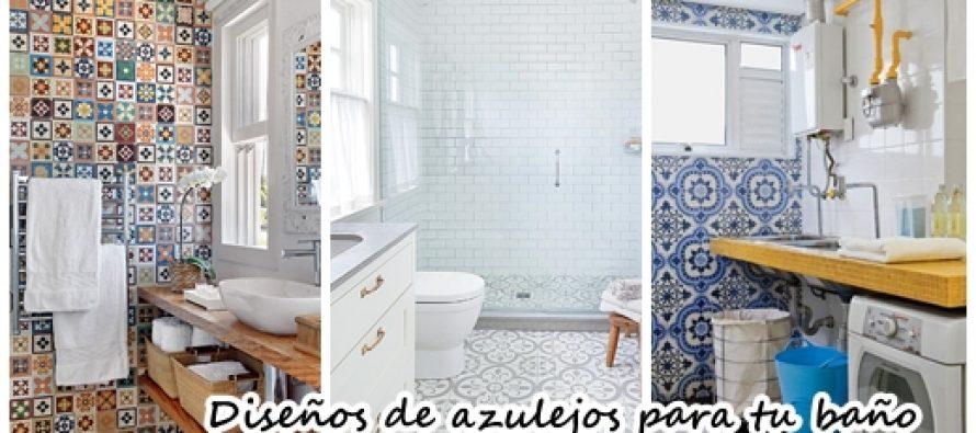 diseos de azulejos para tu bao