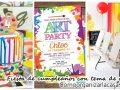 Fiesta de cumpleaños con tema de arte