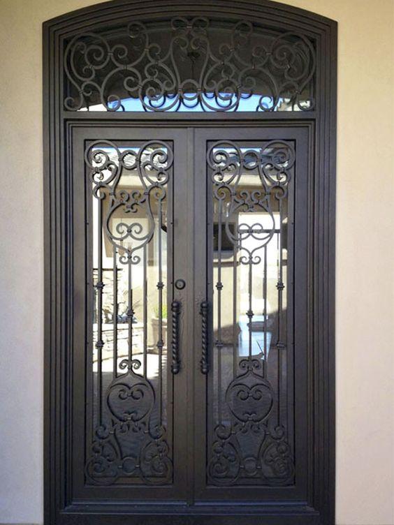 Fotos de puertas de herrer a decoracion de interiores for Puertas de herreria para casa