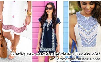 Ideas de outfits con vestidos bordados para primavera-verano 2017