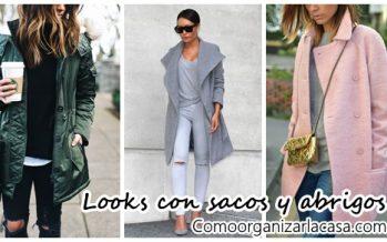 Looks con sacos y abrigos super a la moda