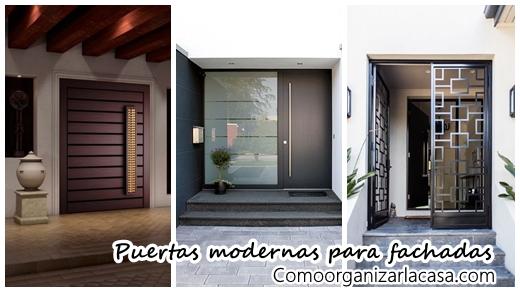 Modernos dise os para puertas de fachadas for Casas modernas con puertas antiguas