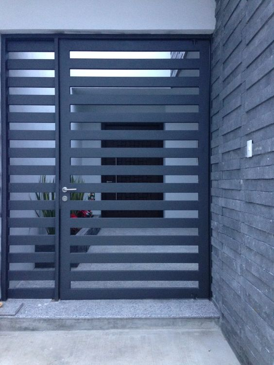 Modernos disenos puertas fachadas 7 decoracion de for Puertas para fachadas