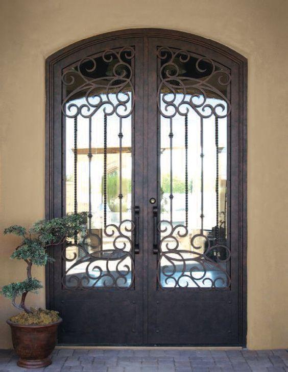 Portones de forja sencillos decoracion de interiores - Adornos de pared de forja ...