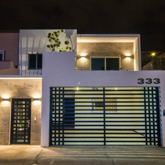 Portones de herrer a dise os que har n lucir la fachada for Fachada de casas modernas con porton