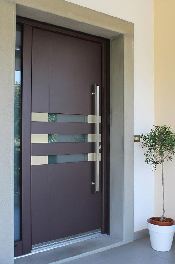 Puertas de herrer a modernas para exterior decoracion de for Puertas pequenas exterior